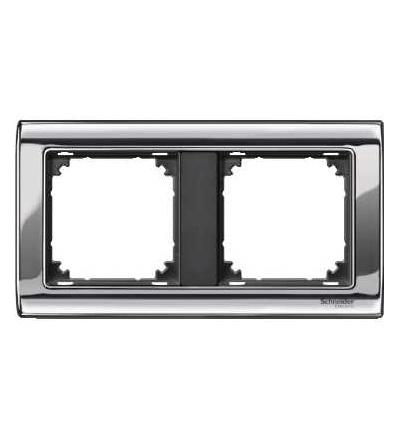 Schneider Electric MTN477214 Merten, M-Star rámeček, dvojnásobný, chrome/antracit