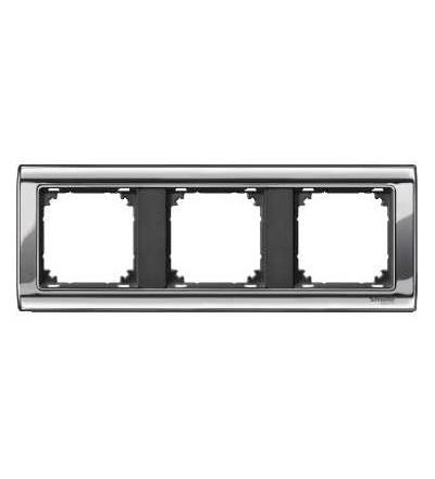 Schneider Electric MTN477314 Merten, M-Star rámeček, 3násobný, chrome/antracit