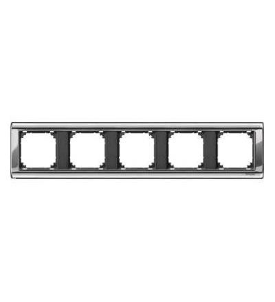 Schneider Electric MTN477514 Merten, M-Star rámeček, pětinásobný, chrome/antracit