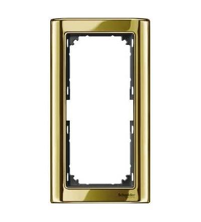 Schneider Electric MTN486814 Merten-M-Star rámeček-dvojnásobný bez středního můstku-polished brass/antracit