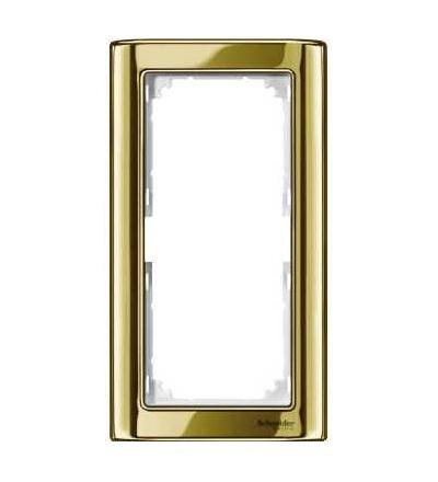 Schneider Electric MTN486819 Merten-M-Star rámeček-dvojnásobný bez středního můstku-polished brass/polar