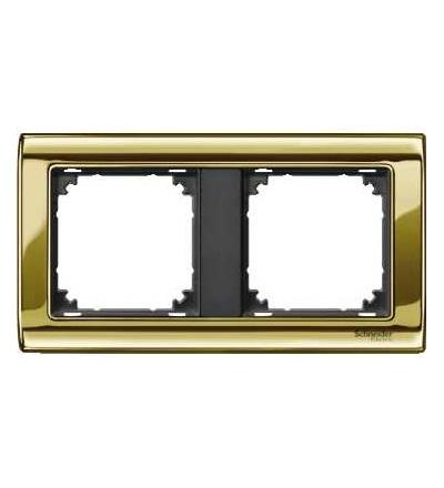 Schneider Electric MTN487214 Merten, M-Star rámeček, dvojnásobný, polished brass/antracit