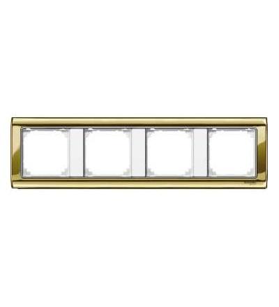 Schneider Electric MTN487419 Merten, M-Star rámeček, čtyřnásobný, polished brass/polar