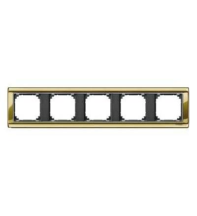 Schneider Electric MTN487514 Merten, M-Star rámeček, pětinásobný, polished brass/antracit