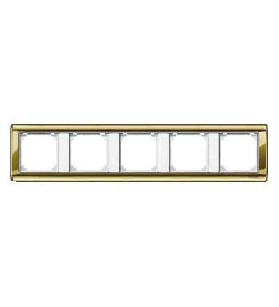 Schneider Electric MTN487519 Merten, M-Star rámeček, pětinásobný, polished brass/polar