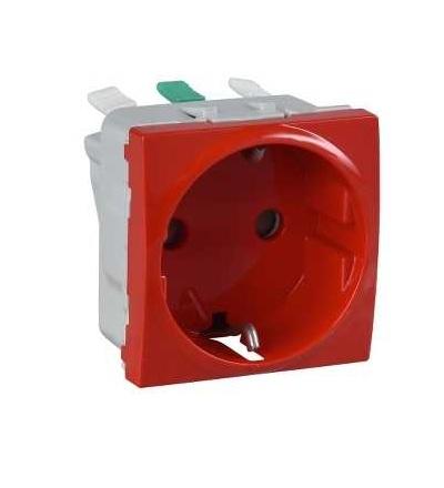 Schneider Electric MGU3.057.03 Zásuvka 230V/16A, 2P+PE schuko, červená, bezšroubová