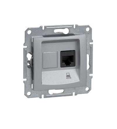 SDN4900160 Zásuvka datová 1xRJ45 kat.6 STP, alu, Schneider Electric