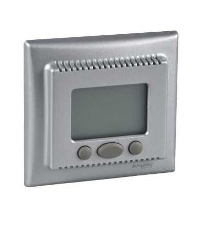 SDN6000260 Termostat programovatelný (vč.čidla pro podlahové vytápění), alu, Schneider Electric