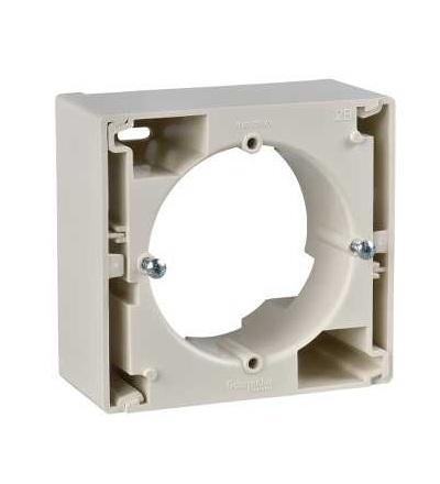 SDN6100147 Krabice pro povrchovou montáž jednonásobná, beige, Schneider Electric
