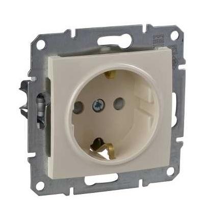 SDN3000147 Zásuvka schuko 2P+PE s dětskými clonkami, beige, Schneider Electric