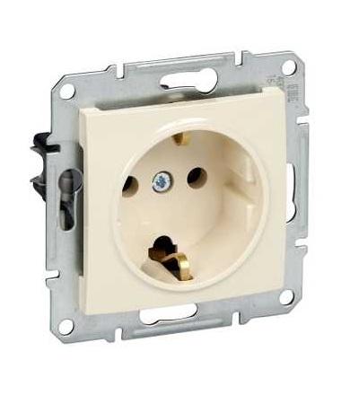 SDN3000547 Zásuvka Schuko 2P+E 230 V 16 A, beige, Schneider Electric