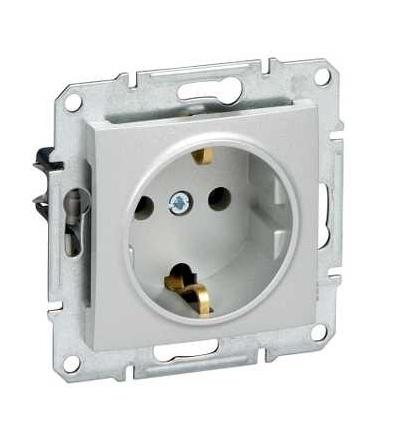 SDN3000560 Zásuvka Schuko 2P+E 230 V 16 A, alu, Schneider Electric