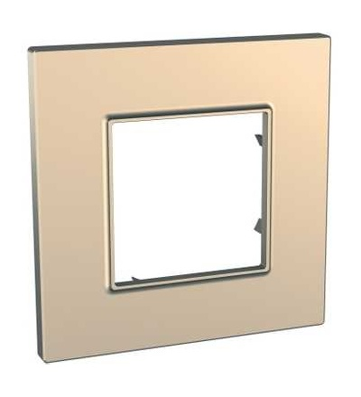 MGU6.702.56 Unica Quadro Metallized, krycí rámeček, jednonásobný, copper, Schneider Electric