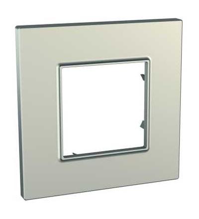 Schneider Electric MGU6.702.57 Unica Quadro Metallized, krycí rámeček, jednonásobný, titanium
