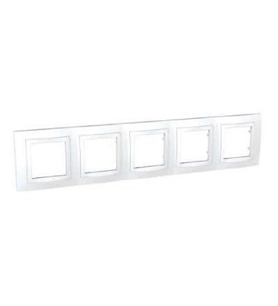 MGU2.010.18 Unica Basic, krycí rámeček, pětinásobný, horiz., polar, Schneider Electric