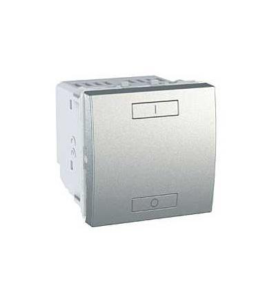 Schneider Electric MGU3.572.30 Unica Wireless, kombinované relé, 230V AC, 0...2300 W, 2mod., aluminium