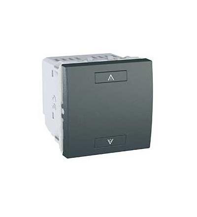 Schneider Electric MGU3.573.12 Unica Wireless, kombinovaný stmívač bez N, 230V AC, 2mod., grafit