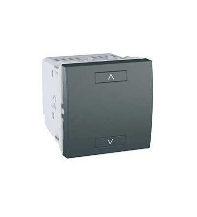 Schneider Electric MGU3.574.12 Unica Wireless-kombinovaný ovládač žaluzií-230VAC-0...690 W-2mod.-grafit