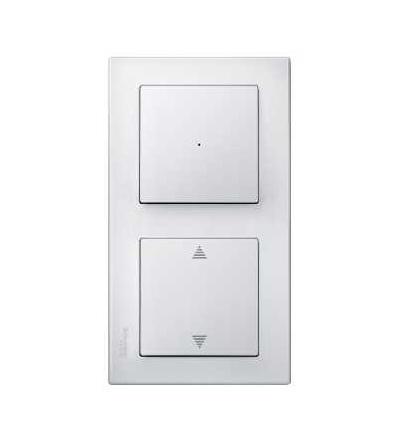 Schneider Electric MTN478219 Merten M-Smart, krycí rámeček, 2-násobný, polar white