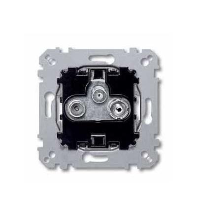 Schneider Electric MTN466097 Merten, anténa jedna zásuvka, výst. vlož., 3 výst. TV+FM+SAT