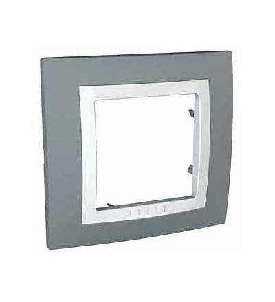 MGU2.002.858 Unica Basic, krycí rámeček, jednonásobný, technical grey/polar, Schneider Electric