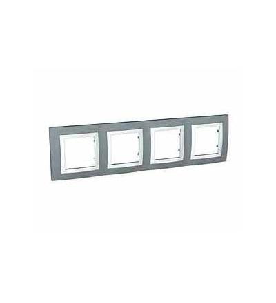 MGU2.008.858 Unica Basic, krycí rámeček, čtyřnásobný, H71, technical grey/polar, Schneider Electric