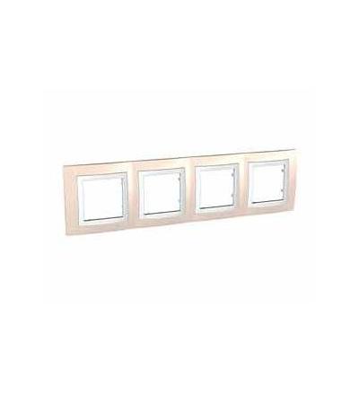 MGU2.008.859 Unica Basic, krycí rámeček, čtyřnásobný, H71, technical grey/polar, Schneider Electric