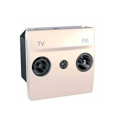 Schneider Electric Unica, zásuvka TV/FM, průchozí, marfil MGU3.453.25