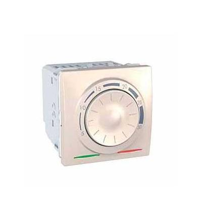 Schneider Electric MGU3.501.25 Unica, termostat otočný, 230V AC-2m- marfil