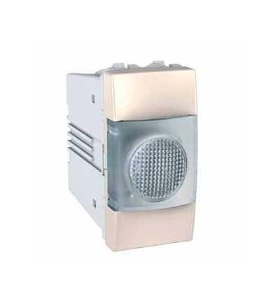 Schneider Electric MGU3.775.25T Unica, indikační světlo, 220V AC, 1mod., marfil