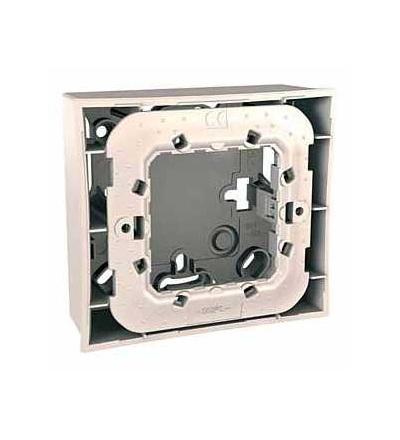Schneider Electric MGU87.022.25 Unica Plus-krabice pro mont.na omítku vč.plast.mont.rámečku-2mod.-9 otv.-marfil