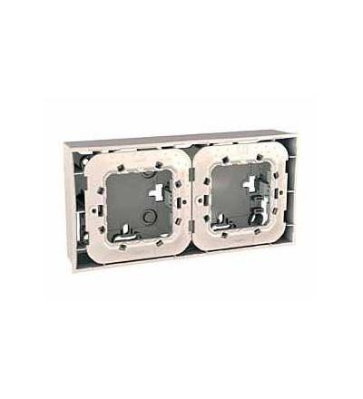 Schneider Electric MGU87.024.25 Unica Plus-krabice pro mont.na omítku vč.plast.mont.rámečku-4mod.-6 otv.-marfil