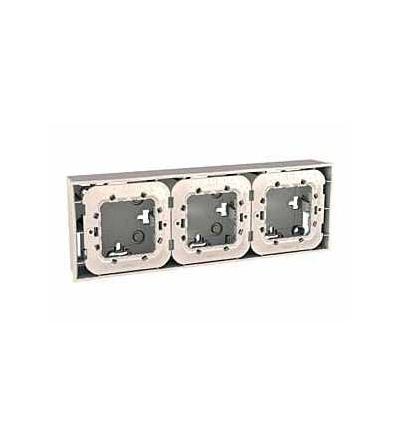 Schneider Electric MGU87.026.25 Unica Plus-krabice pro montáž na omítku vč.plast.mont.rámečku-6m-6 otv.-marfil