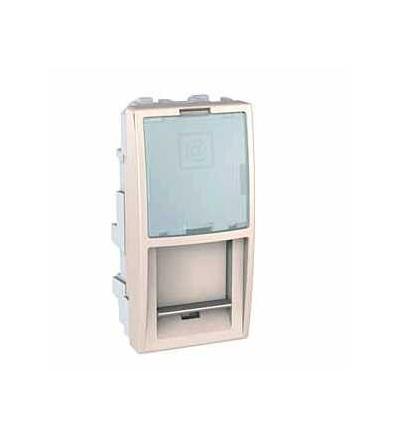 MGU9.461.25 Unica-kryt datové zásuvky pro kon.AMP,KRONE-LUCENT a ATT (Avaya)-1modul-marfil, Schneider Electric