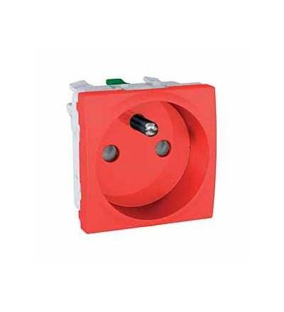 MGU3.059.03 Unica, zásuvka 230V/16A, 2p+PE, krytky, FR, 2mod., red, Schneider Electric