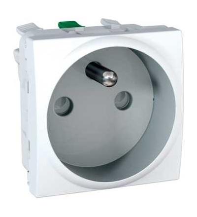 Schneider Electric Zásuvka s dětskými clonkami, bezšroubová - Polar MGU3.059.18