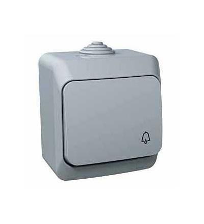 WDE000612 Cedar Plus, ovládač tlačítkový, 16A, symbol zvonek, šedá, Schneider Electric