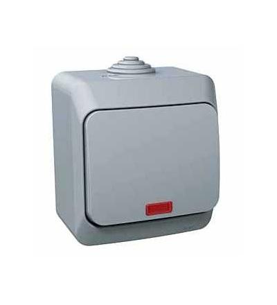 WDE000614 Cedar Plus, jednopólový spínač č.1, 16AX, orientační kontrolka, šedá, Schneider Electric