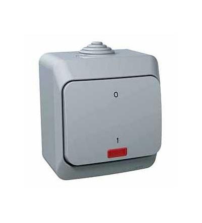 WDE000621 Cedar Plus, spínač. dvojpólový, 16AX, orientační kontrolka, šedá, Schneider Electric
