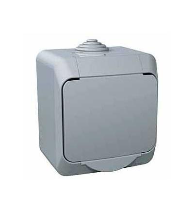 WDE000641 Cedar Plus, zásuvka 230V 16A 2p+SE (VDE), krytky, šedá, Schneider Electric