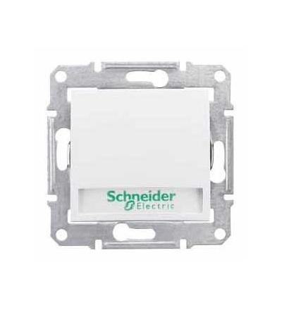 SDN1600321 Sedna-ovl. tlačítkový-10AX s držákem štítku-orient.kontrolka-bez rámečku- polar, Schneider Electric