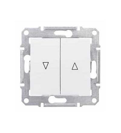 SDN1300321 Sedna-spínač jednopol. ovládače žaluzií-10AX mech.blokování-bez rámečku- polar, Schneider Electric