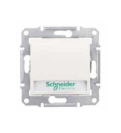 SDN1700423 Sedna-ovládač tlačítkový-10AX 12V~ s držákem štítku-orient.kontrolka-bez rám., Schneider Electric