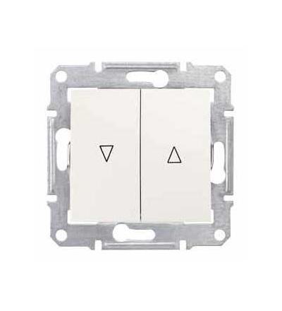 SDN1300323 Sedna-spínač jednopol. ovládače žaluzií-10AX mech.blokování-bez rámečku- cream, Schneider Electric