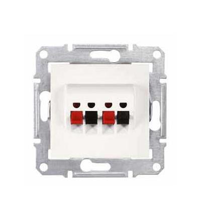 SDN5400123 Sedna, zásuvka dvojnásobná, bez rámečku, cream, Schneider Electric