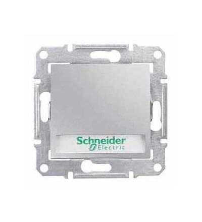 SDN1700460 Sedna, ovládač tlačítkový 12V s orient.kontrol.s držákem štítku-ř.1/0So-alu, Schneider Electric