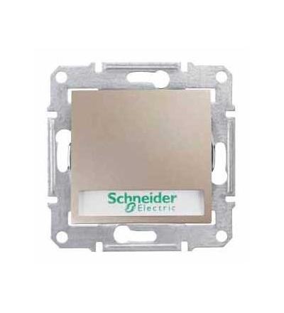 SDN1700468 Sedna, ovládač tlač.12V s orientační kontrolkou s držákem štítku-ř.1/0So-titan, Schneider Electric