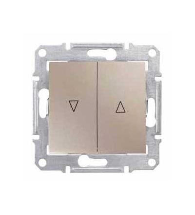 SDN1300368 Sedna-spínač jednopol. ovládače žaluzií-10AX mech.blokování-bez rámečku- titan, Schneider Electric