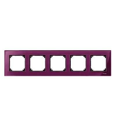 Schneider Electric MTN4050-3206 Merten M-Elegance Glass, krycí rámeček, 5-násobný, ruby red
