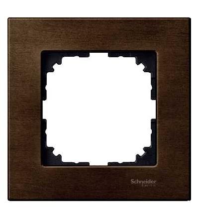 Schneider Electric MTN4051-3473 Merten M-Elegance Wood, krycí rámeček, 1-násobný, walnut